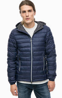 Синяя куртка с капюшоном Alcott
