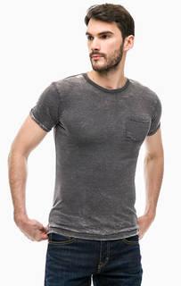 Серая футболка с нагрудным карманом Alcott