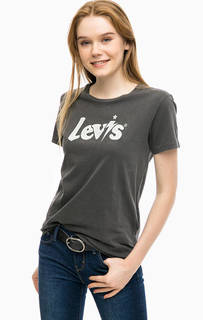 Серая футболка из хлопка с принтом Levis®
