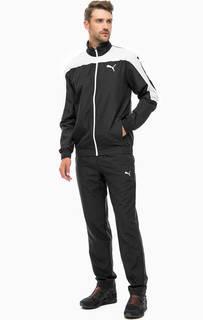 Черный спортивный костюм с логотипом бренда Puma