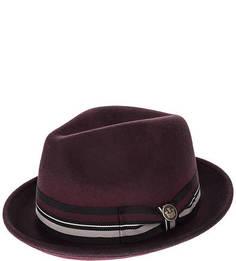 Бордовая шерстяная шляпа Goorin Bros.