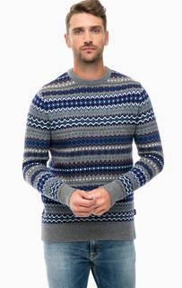 Шерстяной свитер с круглым вырезом Barbour