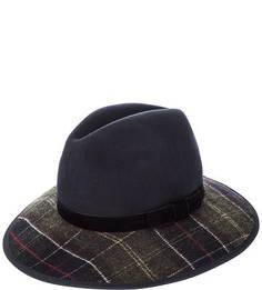 Шерстяная шляпа с полями в клетку Barbour