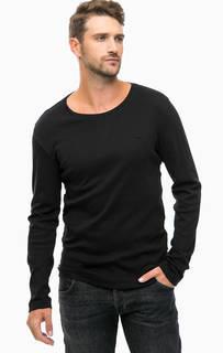 Черная однотонная футболка Mustang