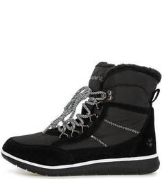 Утепленные ботинки из текстиля и замши Bearpaw