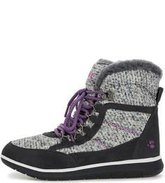 Ботинки из текстиля и замши на шнуровке Bearpaw