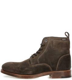 Высокие замшевые ботинки с каблуком Pepe Jeans
