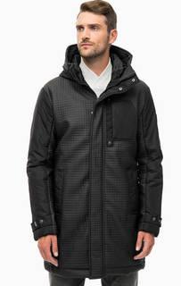 Черная демисезонная куртка с капюшоном EA7