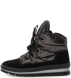Ботинки из замши и текстиля на молнии и шнуровке Jog Dog
