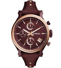 Часы с люминесцентными стрелками Fossil