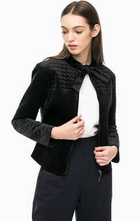Короткая стеганая куртка из бархата Armani Jeans
