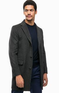 Серое классическое пальто на пуговицах United Colors of Benetton