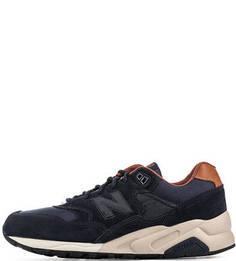Синие кроссовки с текстильными вставками New Balance