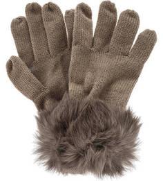 Вязаные перчатки с меховой отделкой Herman