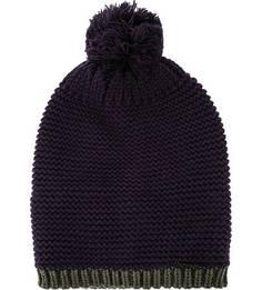 Фиолетовая шапка с помпоном Herman