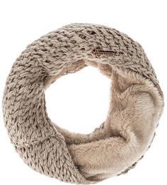 Бежевый шарф-хомут крупной вязки Herman