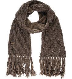 Шарф коричневого цвета крупной вязки Herman