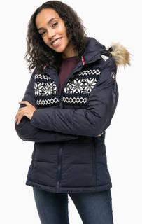 Утепленная куртка с капюшоном и вставками из шерсти Napapijri