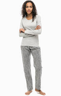 Хлопковый комплект из футболки и брюк Calvin Klein