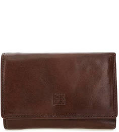 Кожаный кошелек коричневого цвета Sergio Belotti