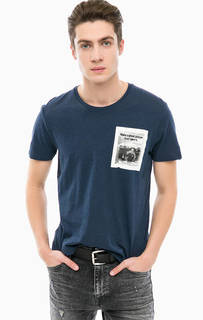 Хлопковая футболка с короткими рукавами Mavi