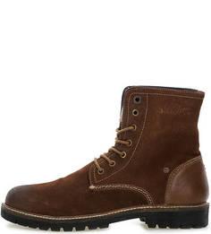 Высокие ботинки коричневого цвета S.Oliver