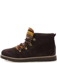 Замшевые ботинки с контрастным язычком Skechers