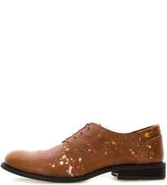 Коричневые кожаные туфли FLY London
