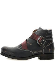 Демисезонные кожаные ботинки с декоративными потертостями FLY London