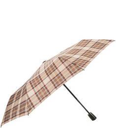 Бежевый зонт в клетку Doppler
