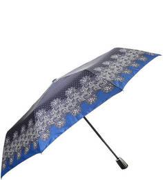 """Синий зонт в горошек с системой """"антиветер"""" Doppler"""