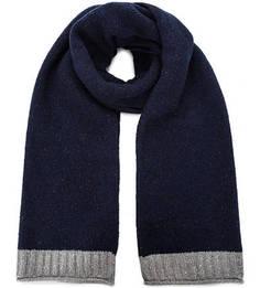 Синий шарф с высоким содержанием шерсти Marc Opolo