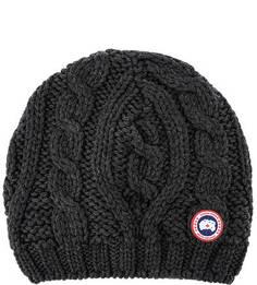 Шерстяная шапка с косами Canada Goose