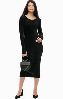 Черное платье прямого кроя Pinko