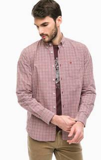 Рубашка в мелкую клетку с карманом Lerros