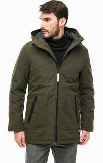 Куртка цвета хаки с капюшоном Tom Tailor Denim