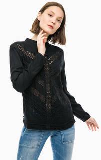 Блуза с кружевными вставками Ichi