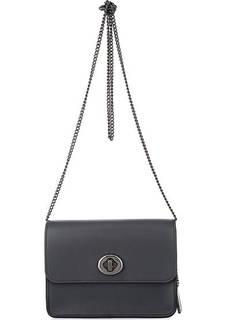 Кожаная сумка с откидным клапаном Coach