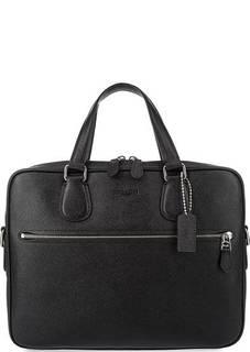 Кожаная сумка с широким плечевым ремнем Coach