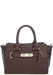 Кожаная сумка через плечо с короткими ручками Coach