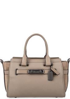Кожаная сумка с одним отделом на молнии Coach