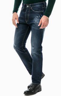 Рваные джинсы с застежкой на болты Gas