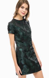 Короткое платье с цветочным принтом Gaudi