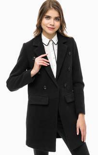 Двубортное пальто черного цвета Gaudi