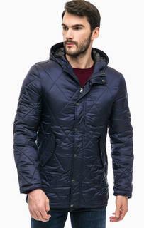 Стеганая куртка синего цвета Gaudi
