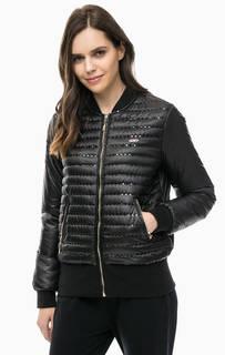 Черная куртка с отделкой пайетками Liu Jo Sport