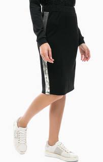 Трикотажная юбка с отделкой пайетками Liu Jo Sport