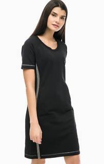 Черное платье-свитшот с карманами Liu Jo Sport