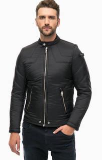 Короткая демисезонная куртка черного цвета Diesel