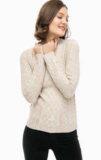 Бежевый трикотажный свитер Mavi